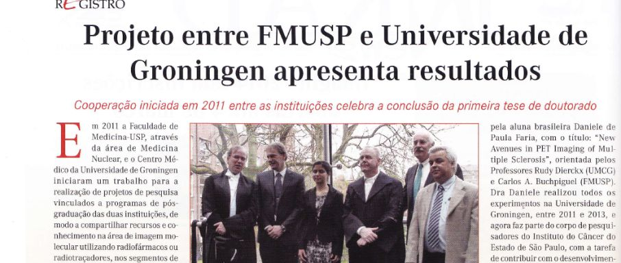 Cooperation Groningen and Universidade de São Paulo: first thesis defense in Nuclear Medicine